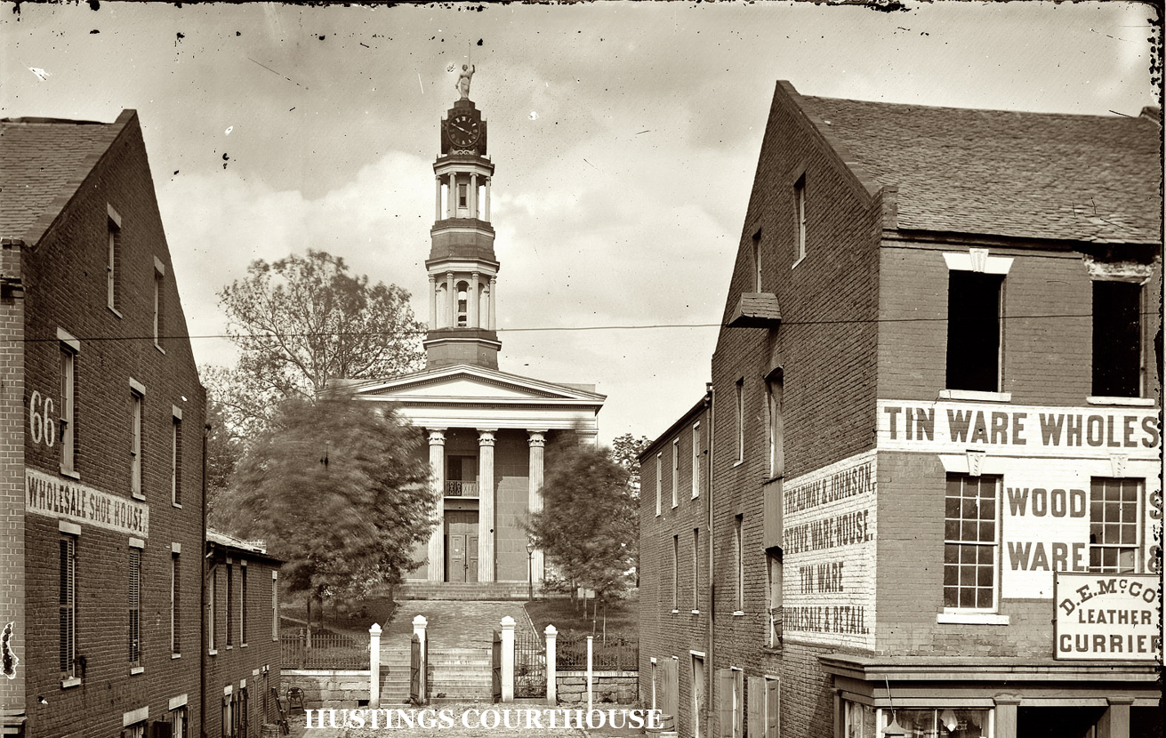 Petersburg Hustings Courthouse, historical photo