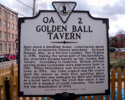 This historical marker was dedicated in 2002 at the former site of the historic tavern.