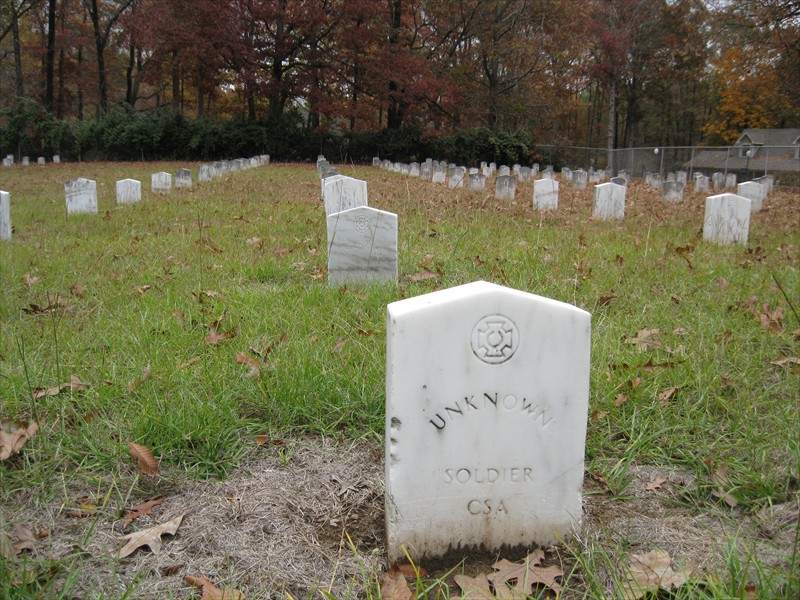 Unknown Confederate Soldier Grave at Camp Nelson  Confederate Cemetery