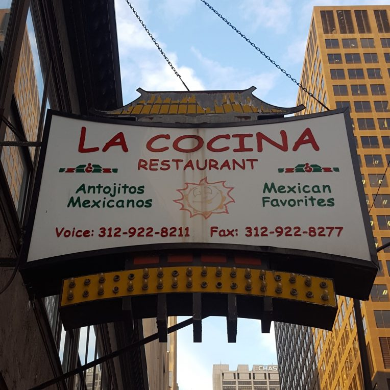 The only remnant of Old Chinatown can be found in the pagoda over this Mexican restaurant on Clark Street