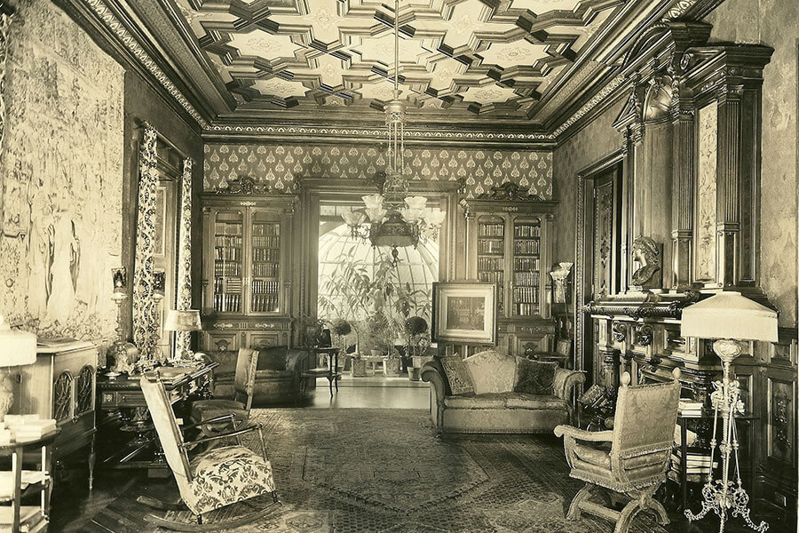 The Mansion's Library c. 1920