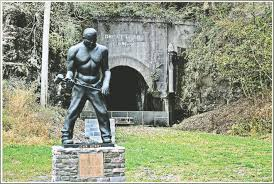 Statue of John Henry at the Great Bend Tunnel.