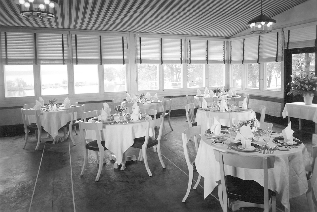 Roger Williams Inn's Crystal Dining Hall in its prime