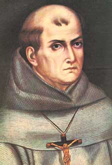 A portrait of Junipero Serra. Born in Mallorca, Spain, he served as a Franciscan friar in the New World for nearly 20 years before journeying into California at the age of 55, to claim the land for Spain before Russia and England did.