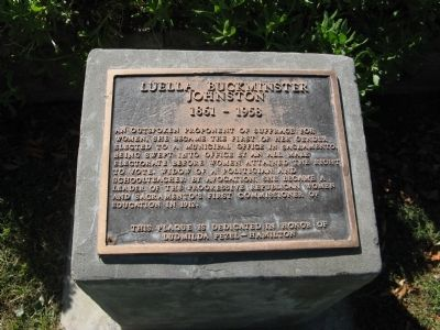 Marker honoring Luella Buckminster Johnston