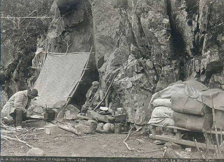 The gold miners would stay in shacks and tents. They never had a permanent home during the Gold Rush.