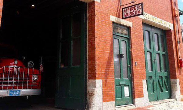 The front entrance to the New Bedford Fire Museum, part of the active station (Courtesy of Destination New Bedford)