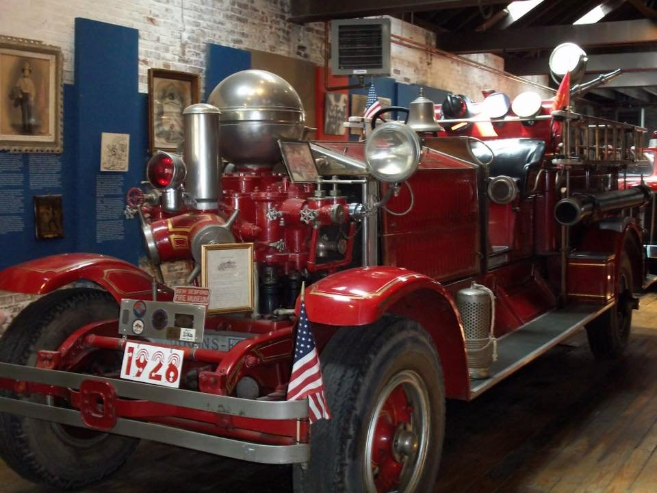 One of the engines on display at the New Bedford Fire Museum.