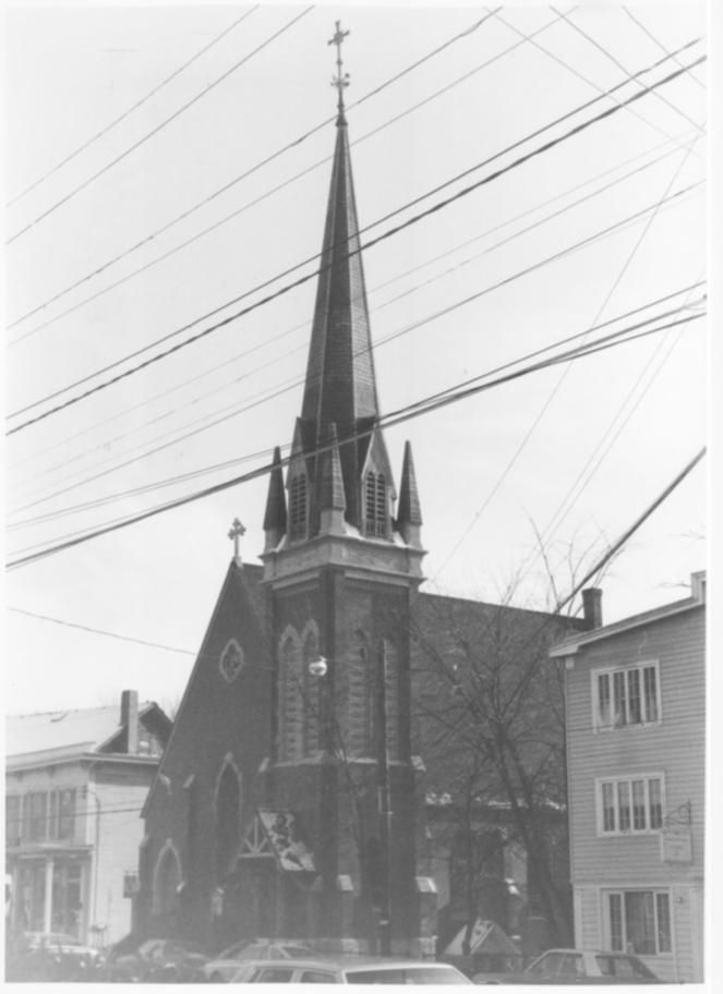 South Side (3) of Main Street incl. Trinity Episcopal Church, Bryant and Lawrence, inc., and Copp Mill 3 by Roger P. Akeley on December 15, 1982