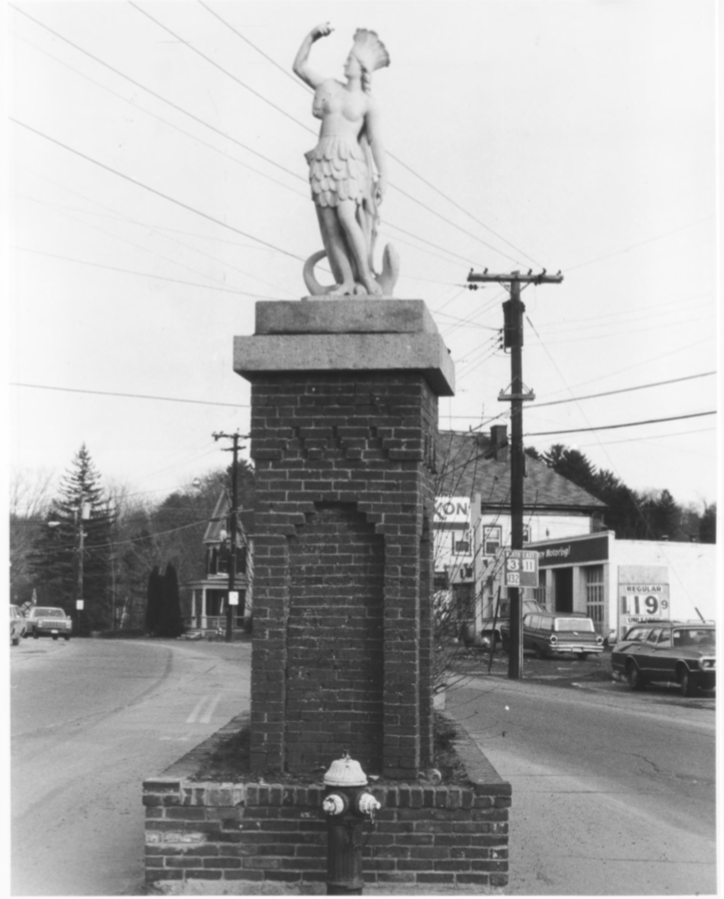 Statue of America at the Entrance of Veterans Square by Roger P. Akeley on December 15, 1982