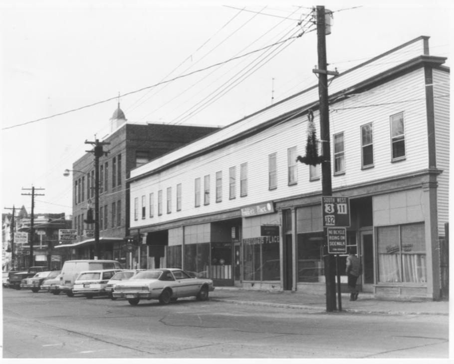The South Side of the Tilton Block and Lovering Block by Roger P. Akeley on December 15, 1982