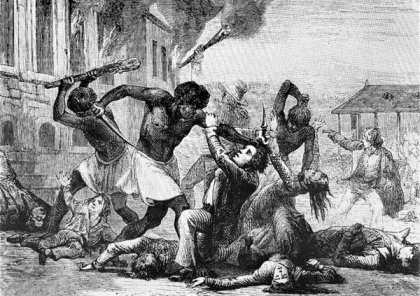 This is artwork referencing 1811 revolt, but the artist is unknown.