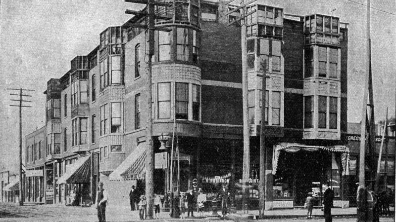 "H.H. Holmes ""Murder Castle"" on 63rd and Wallace St in 1893."