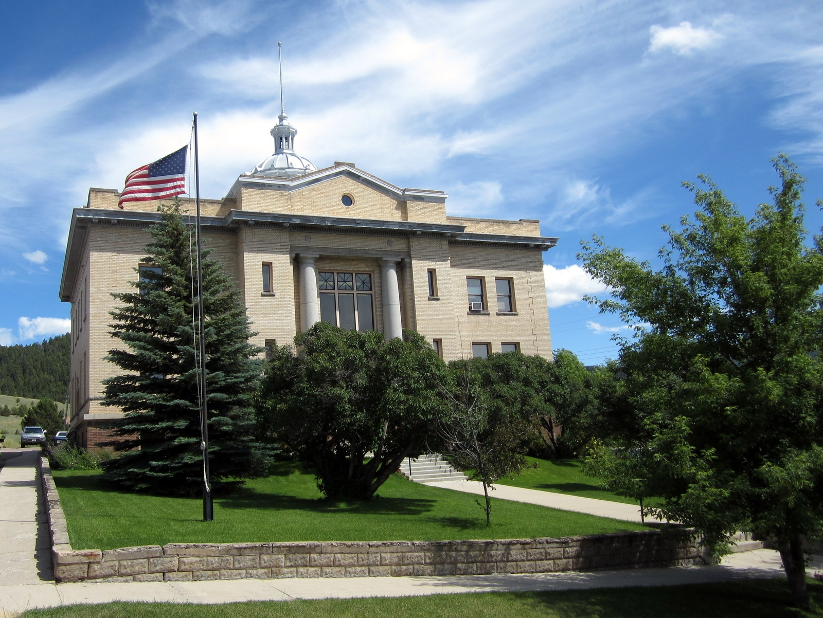 The Granite County Courthouse was built in 1913 and is a good example of Neoclassical architecture.