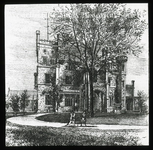 Drawing of Leland Castle, 1857