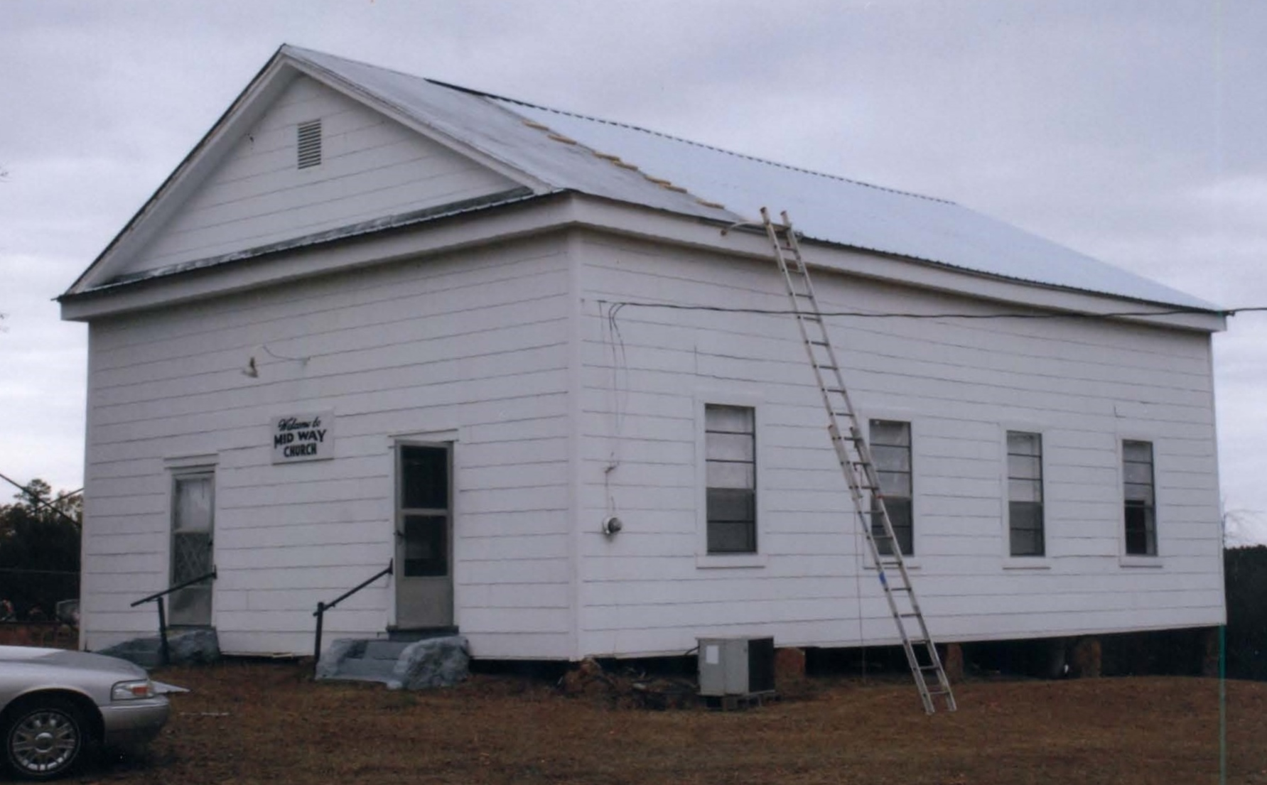 The Midway Church building in 2010 while it was being renovated.