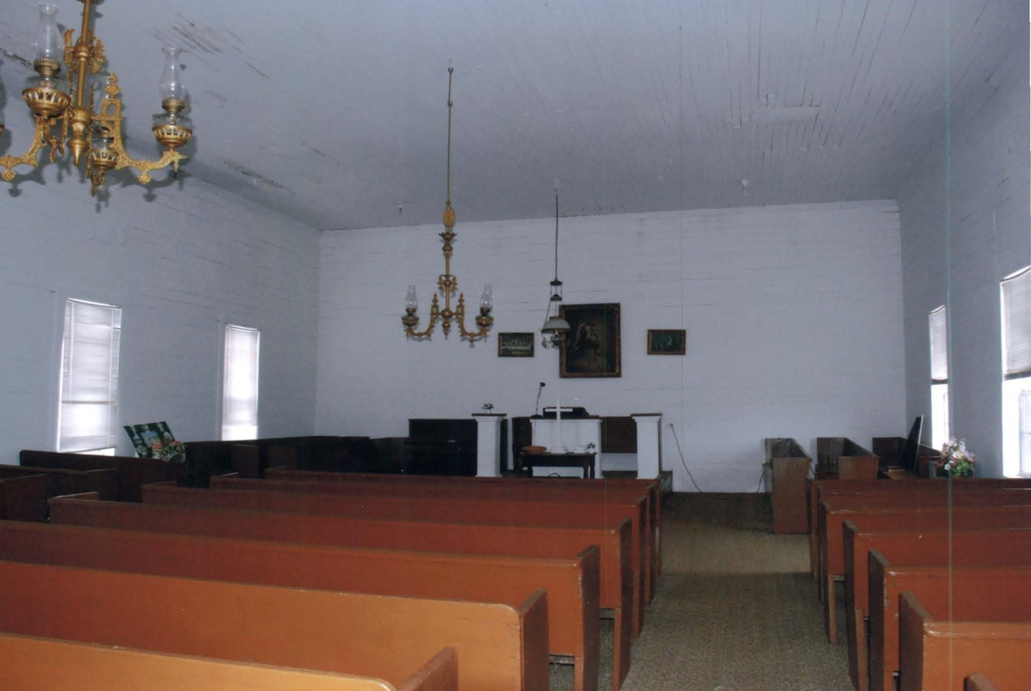 The interior of the church facing the northside of the building.