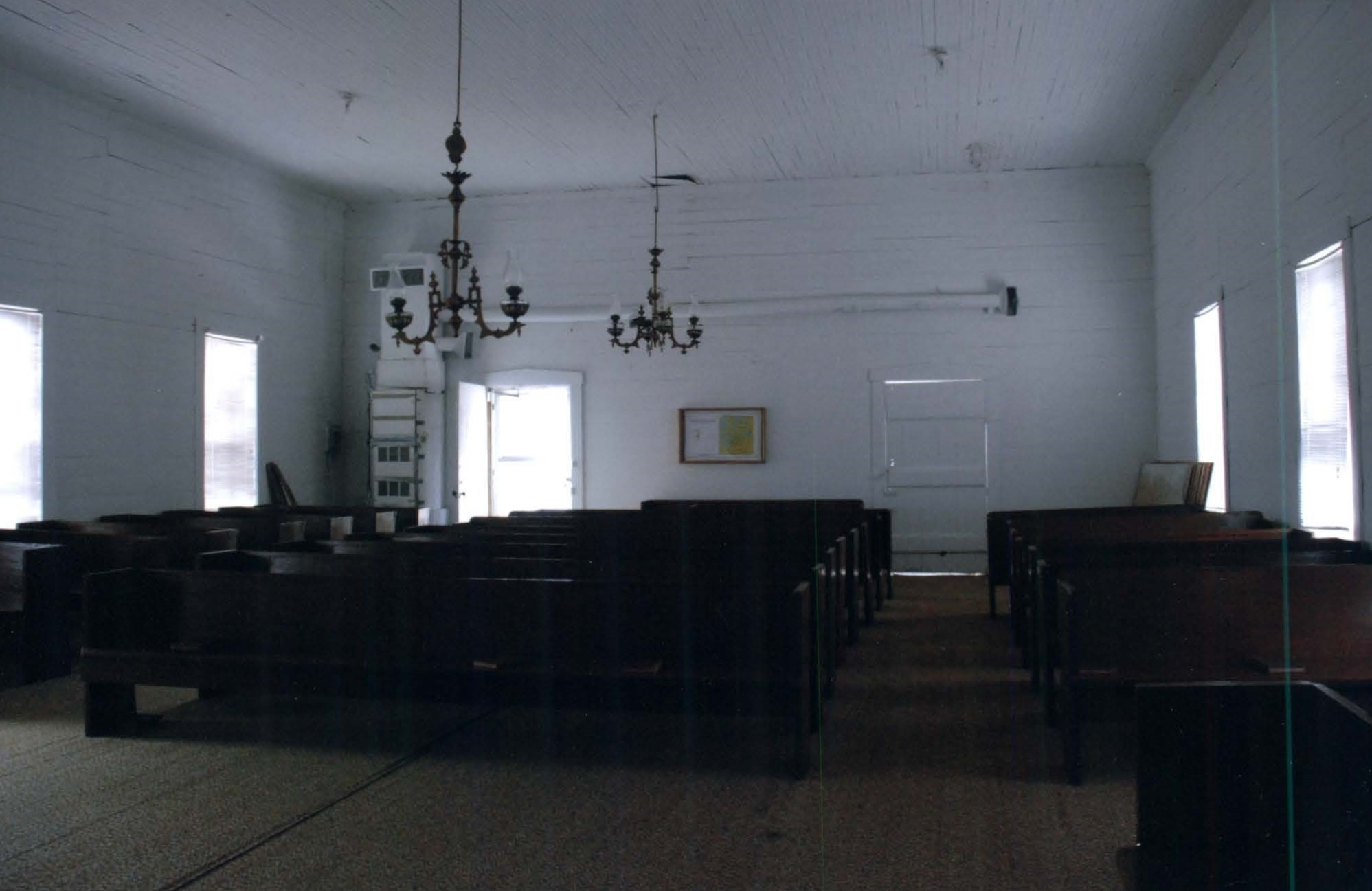 The Interior of the church facing the southside of the building.
