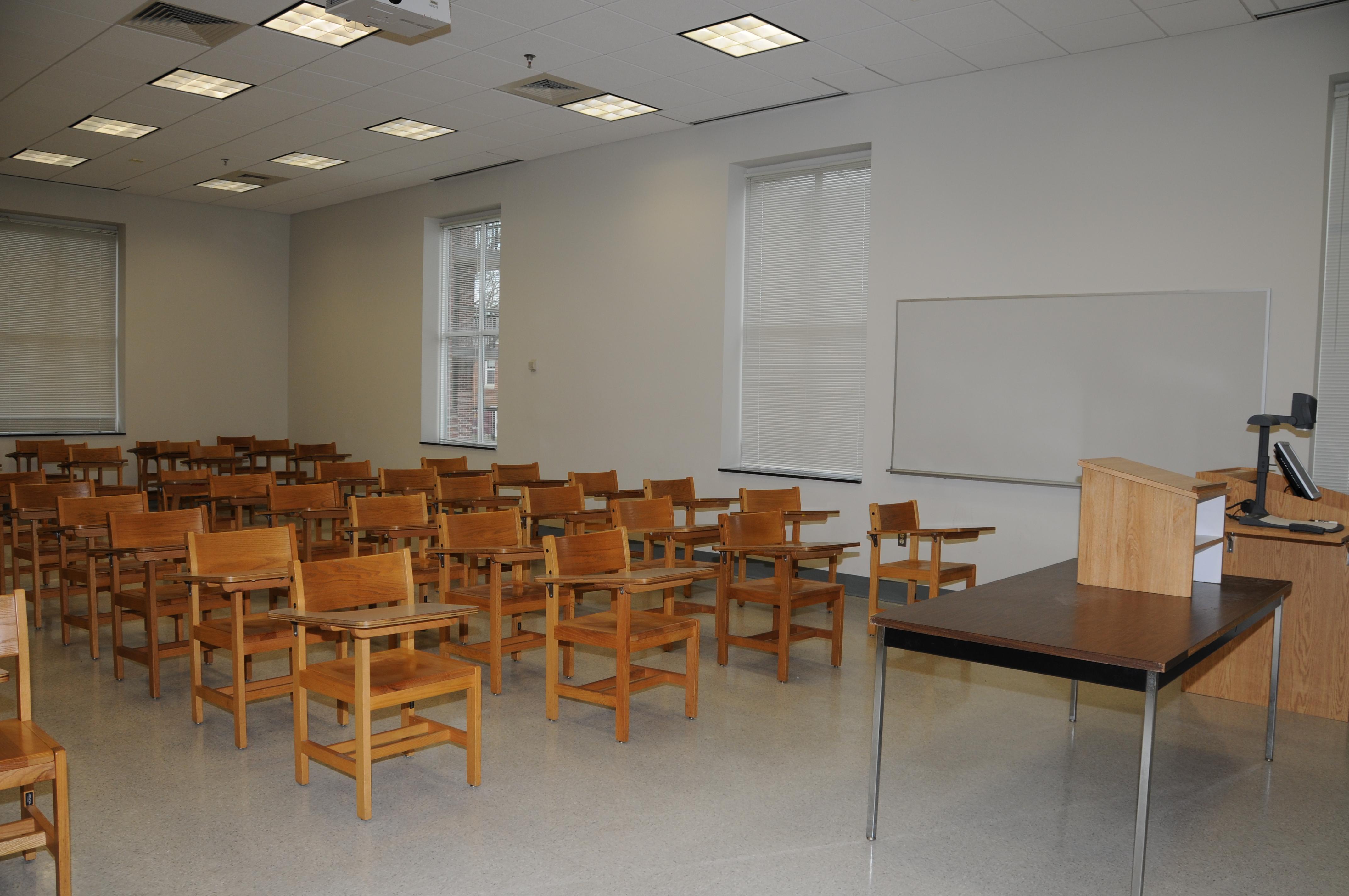 Fulton Hall Classroom, 2010