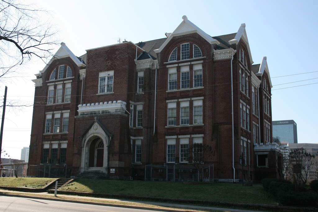Powell School was built in 1888 and is the oldest school building in the city.