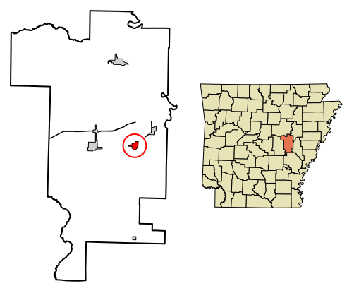 DeValls Bluff location on Arkansas Map