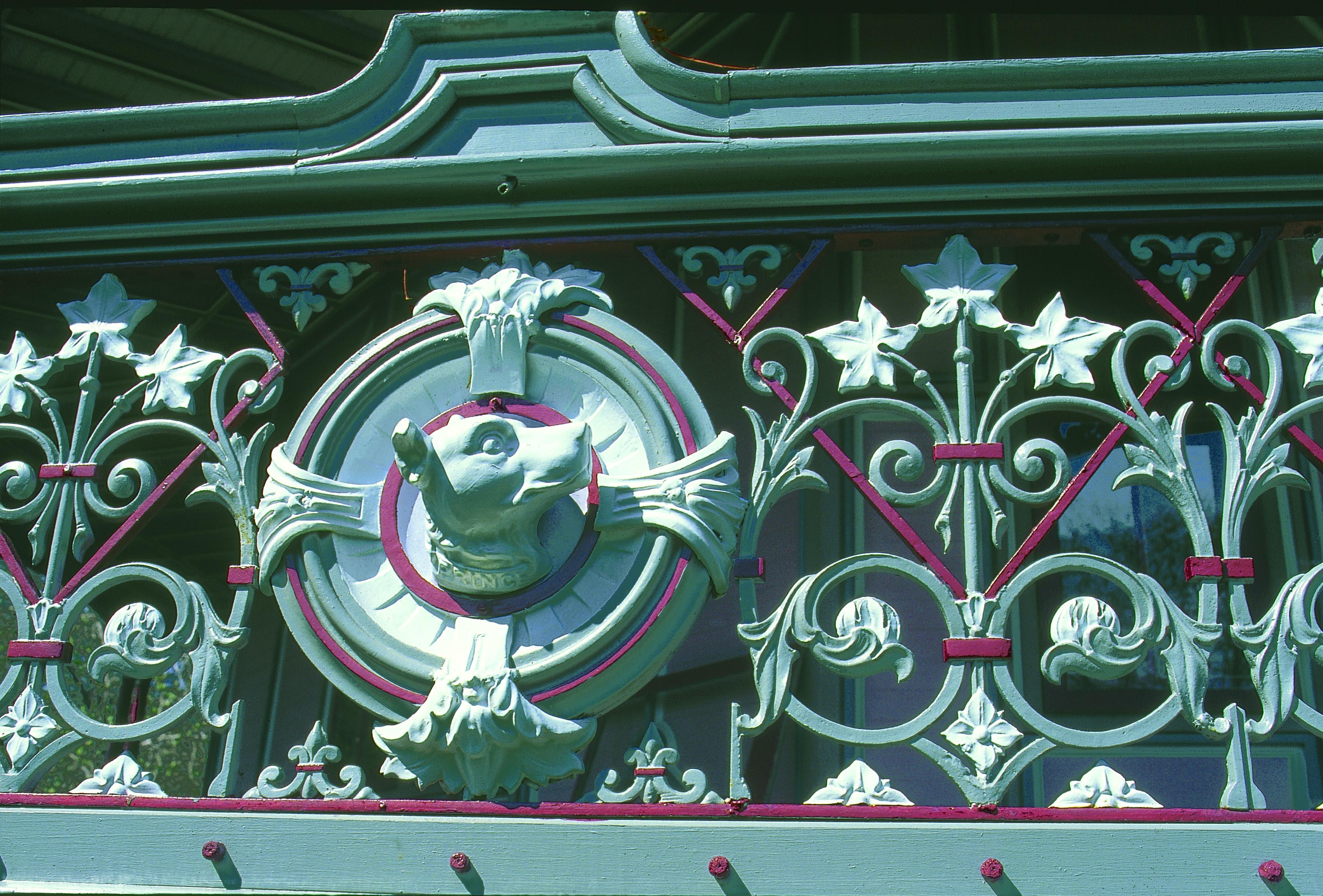 Ornamental Medallion on the Veranda Railing