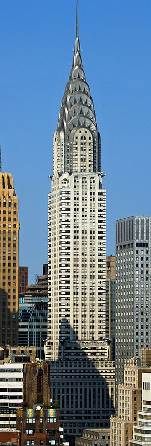 The Chrysler Building is a classic example of Art Deco architecture and considered by many contemporary architects to be one of the finest buildings in New York City.