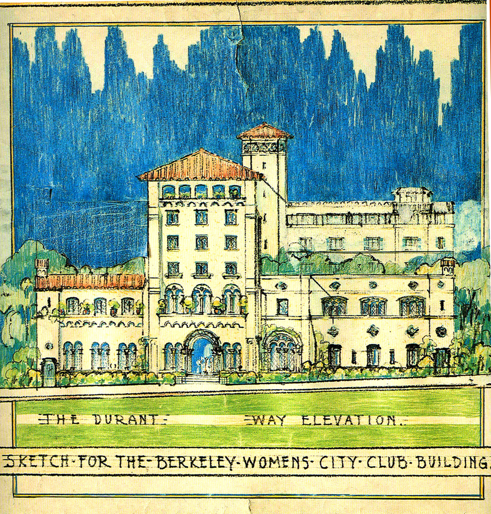Julia Morgan drawing for Berkeley Women's City Club (c. 1928)