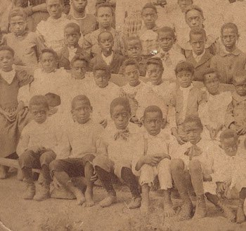 Class photo of African American students who attended Hosanna School in 1894