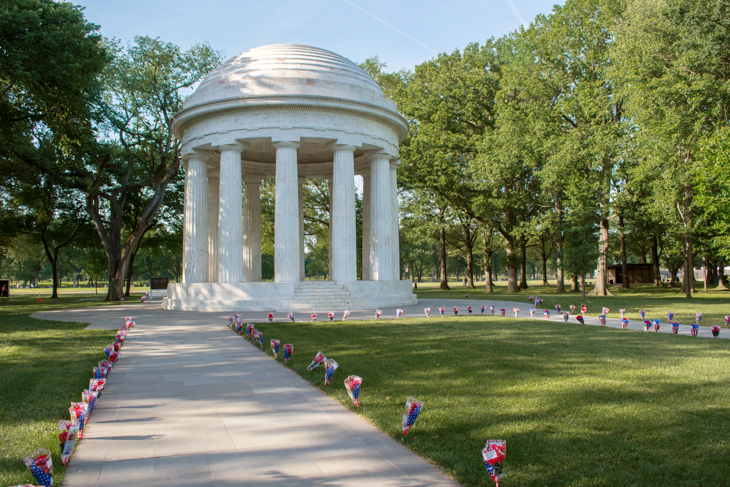 The District of Columbia War Memorial is often missed on the National Mall, though recent restorations and the centennial of World War I have renewed public interest. Photo courtesy of Tim Evanson, Wikimedia.
