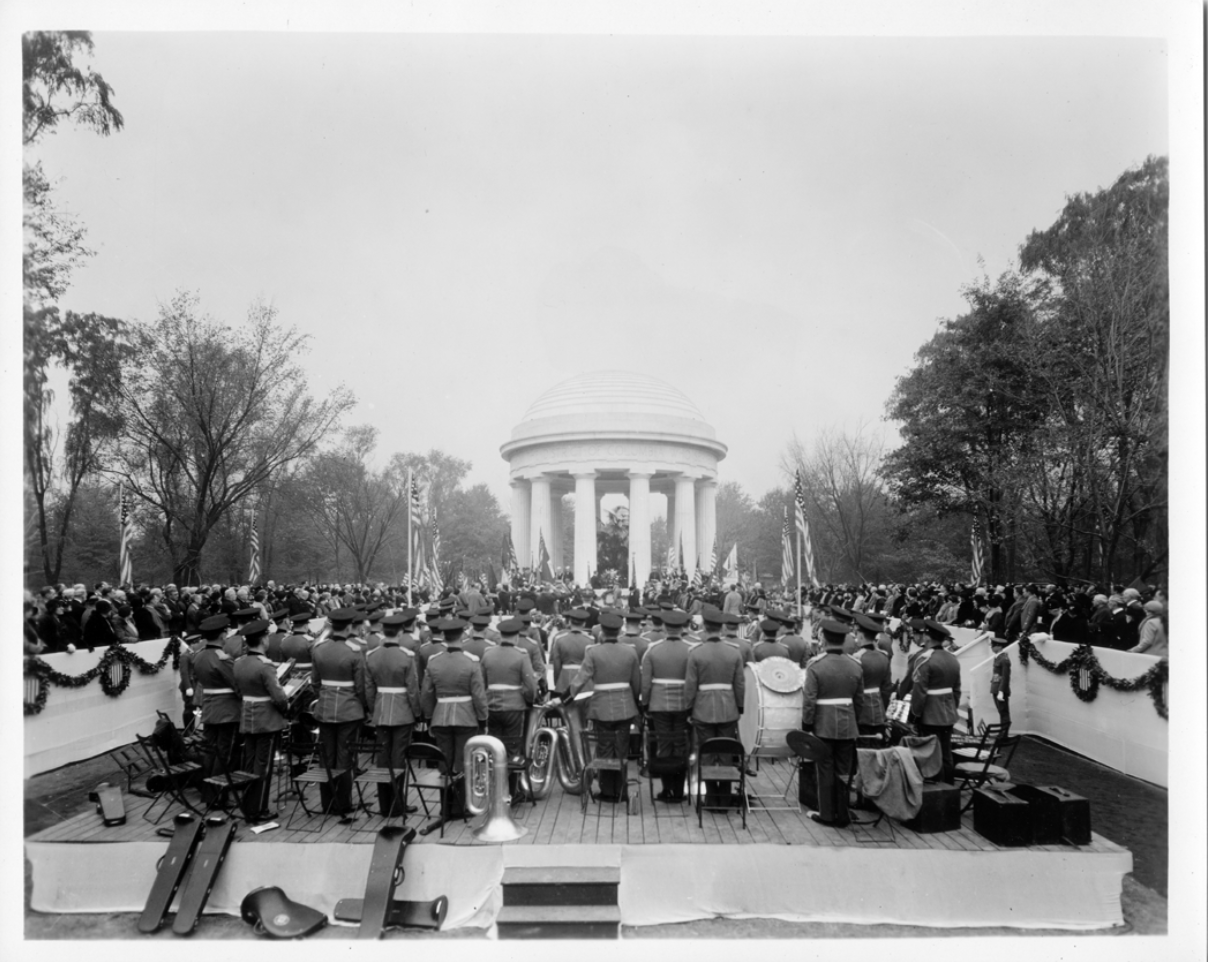 Dedication of the District of Columbia War Memorial on November 11, 1931, the thirteenth anniversary of Armistice Day. Photo courtesy of the National Register of Historic Places form.