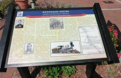 Kennesaw House Historical Marker erected by the Georgia Civil War Heritage Trails, Inc.