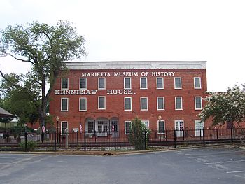 Kennesaw/Fletcher House now houses the Marietta Museum of History
