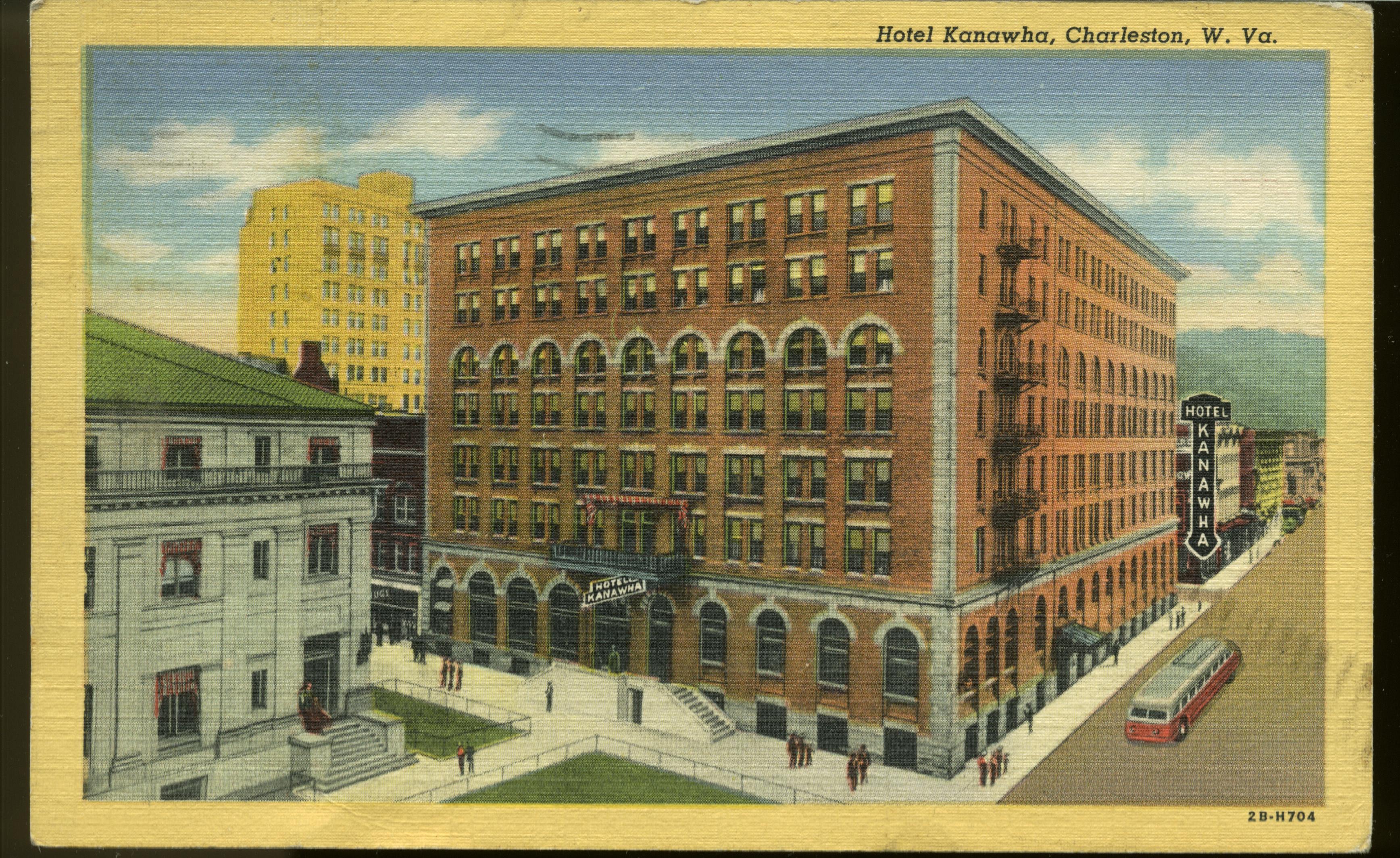 1945 postcard of the Kanawha Hotel