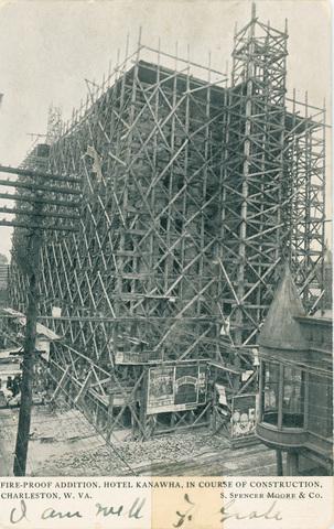 Construction of the Hotel Kanawha