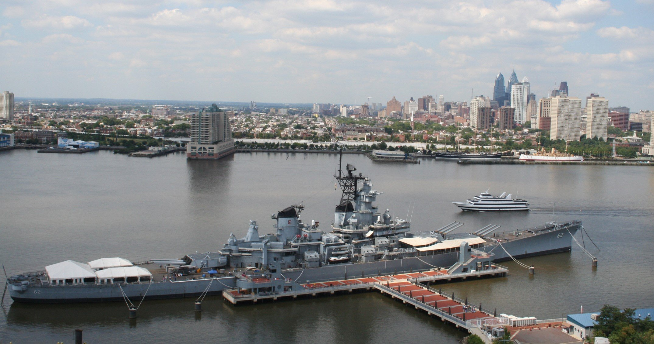 The USS New Jersey has been permanetly docked in Camden as a museum since 2001. (Visit Philly)