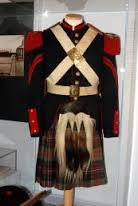Picture of uniform from the museum