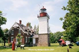 The Dunkirk Lighthouse was built in 1826 and continues to operate as a navigational aid.