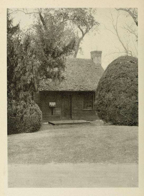 A view of the cabin in 1929.