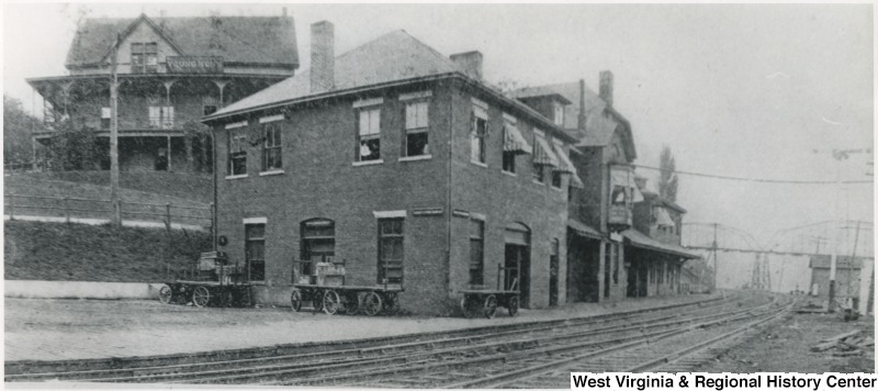 Passenger depot and original YMCA, circa 1900. Picture source: WV History OnView