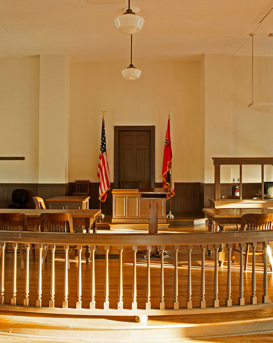 A picture inside the courthouse