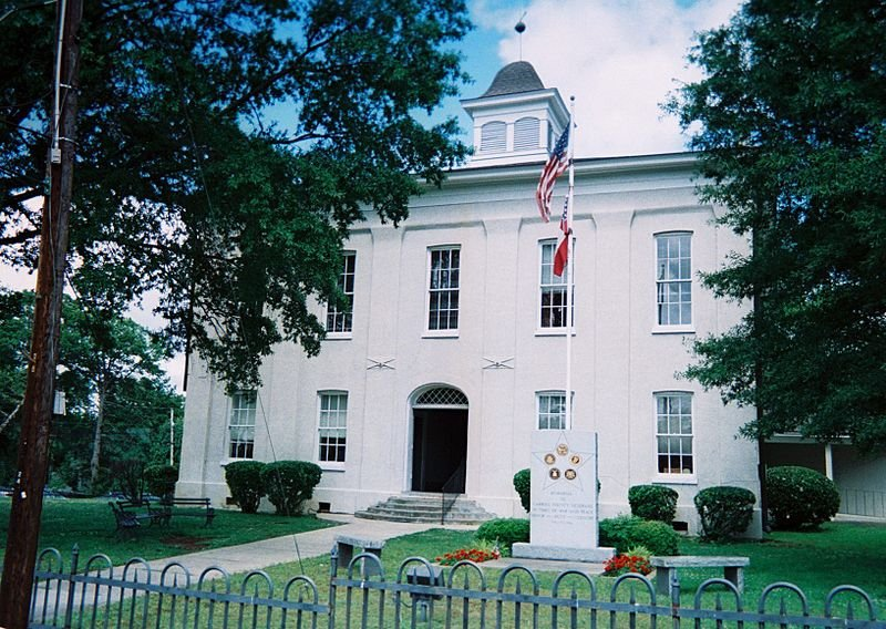 This courthouse was constructed in 1876 and replaced a previous structure that had been the site of the Carroll County Courthouse massacre.