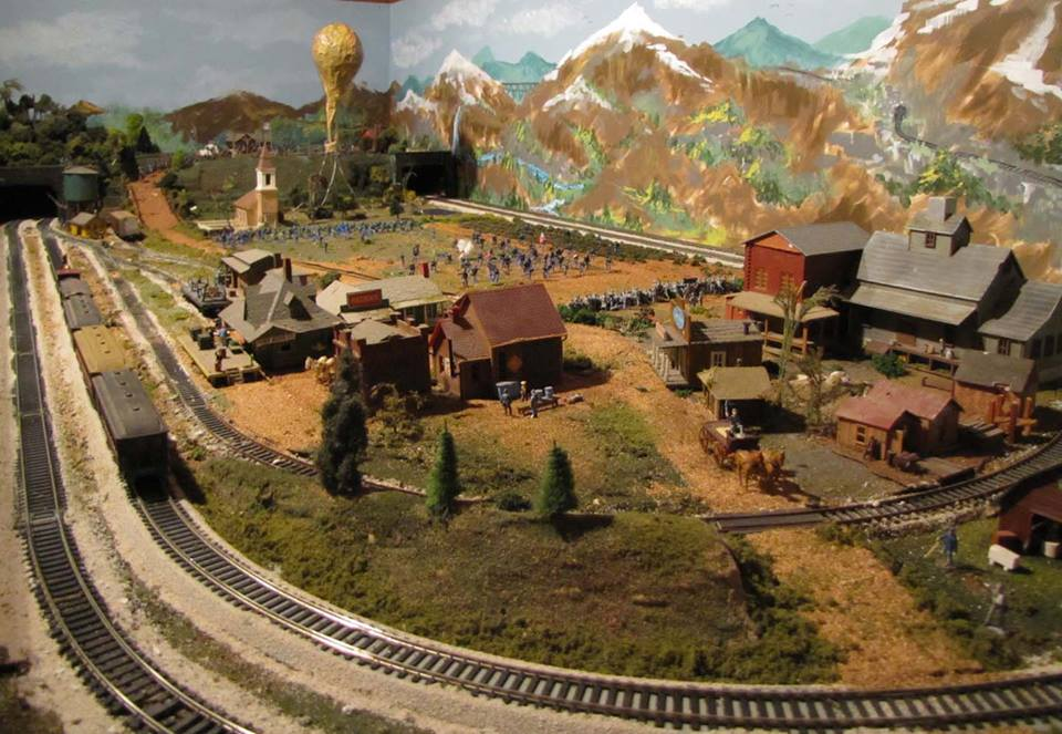 The basement of the historic home includes exhibits of model military trains.