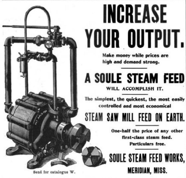 1901 steam feed ad