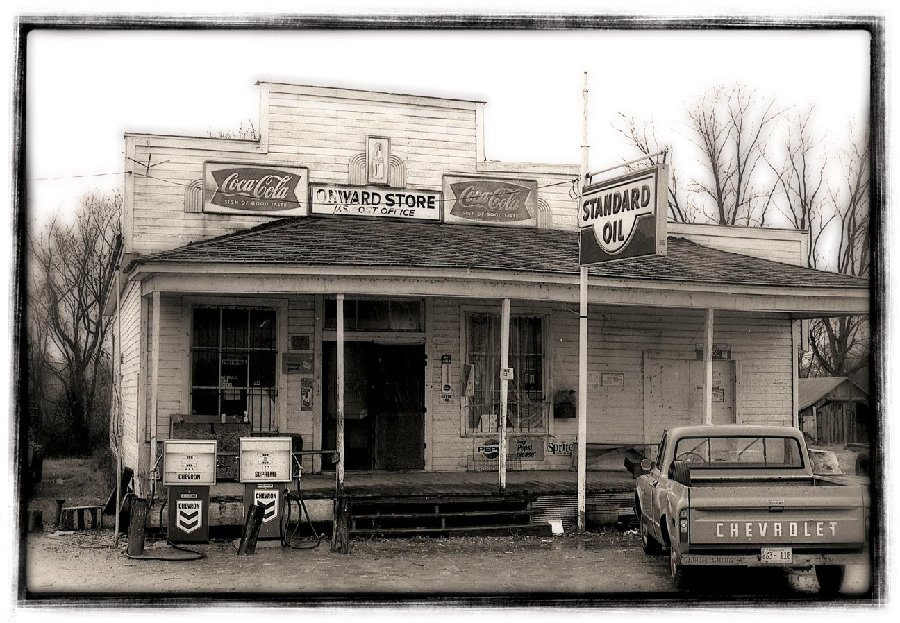 A historic photo of the store from mid-century.