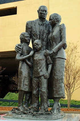 Differing perspective about Maya Angelou's quote for the monument demonstrates the continuing differences of perspectives regarding the historical memory of slavery.