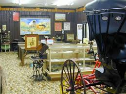 The museum includes exhibits related to transportation and the pioneer era.