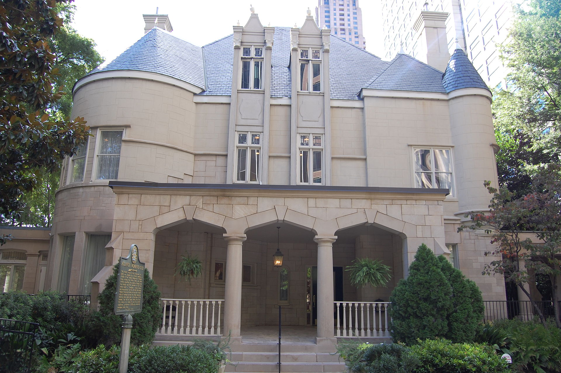 The Wimbish House was built in 1906 and became the headquarters of the Atlanta Women's Club in 1919.