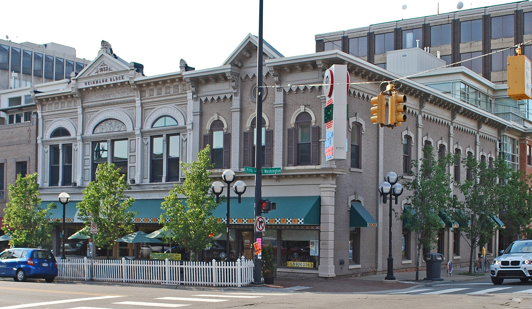 2010 Photo of the Weinmann Block in Ann Arbor, with the Blue Nile restaurant serving as its most prominent occupant.