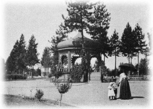 Gazebo at Coeur d'Alene Park cirque it's original construction. (1908)